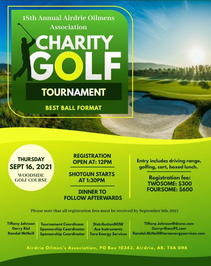 18th Annual Airdrie Oilmens Charity Golf Tournament